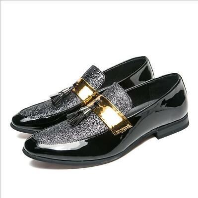 Men/'s Dress Shoes Moc Toe Drop Tassel Slip On Cognac Leather STACY ADAMS 25232