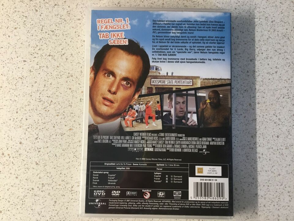 Let'sgo to prison, DVD, komedie