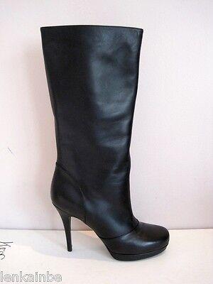 YSL Tribute Platform Stiletto Boots Classic Black 40.5 10.5 $1195