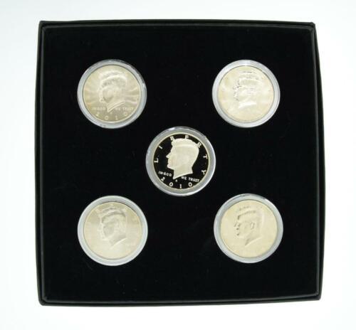 2010 P D S BU Plus CLAD PROOF Kennedy Half Dollar Set 5 Coins {B67}