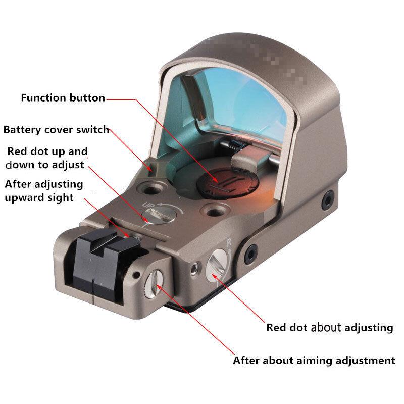 Tan DP-Pro Pistola alcance amplio campo de vista Visor de punto con montajes de 1911 1913 Glock