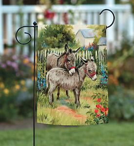 Toland Backyard Burrows 12 5 X 18 Barnyard Farm Donkey Meadow Garden Flag 17917022315 Ebay
