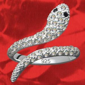 Exclusivo-anillo-de-mujer-serpiente-real-925-Sterling-plata-cristal-circonita