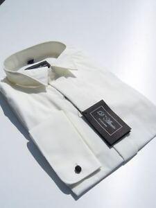 Herren elfenbein creme hochzeitskleid fliege fl gel kragen hemd abiball ebay - Fliege abiball ...