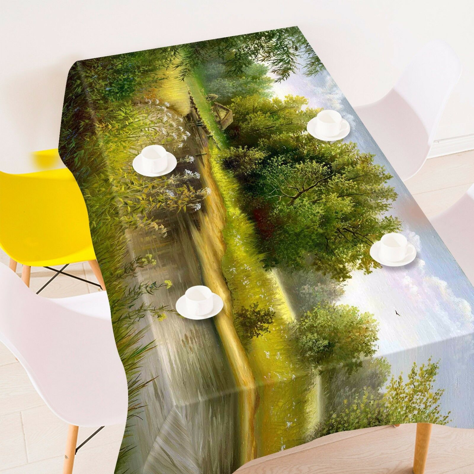 3D Hut River 326 Tablecloth Table Cover Cloth Birthday Party Event AJ WALLPAPER