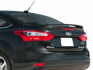 Painted ford focus 4 door factory style rear wing spoiler 2012 2014 ebay for 2012 ford focus exterior accessories