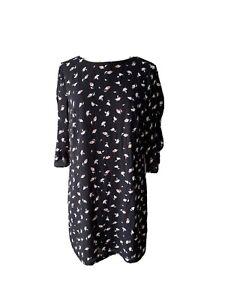 Tokito Womens 10 Size Shift Dress Knee Length Slit Flared Sleeves