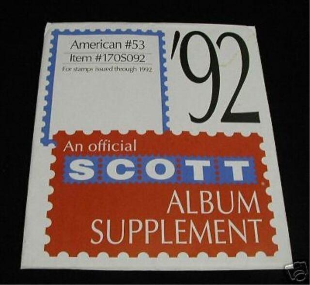 SCOTT AMERICAN  #53 1992 SUPPLEMENT 170S092 NEW