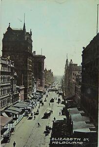 MELBOURNE-ELIZABETH-STREET-VICTORIA-1910-POSTCARD