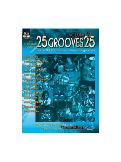 25 Grooves 25, Volume 2 Learn to Play Present Gift MUSIC BOOK & CD Drums