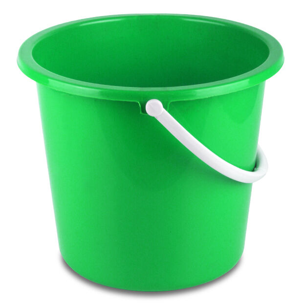 10L Green Economy Plastic Bucket For Car Washing, Cleaning, Valeting & Storage