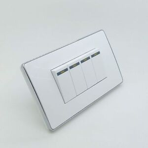 Details About Yg Us 250v 10a 1 2 3 Gang White Plastic Panel Home Room Wall Light Switch Socket