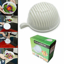 Easy to Make Salad in 60 Seconds - Salad Maker Cutter Bowl Original Salad Tool