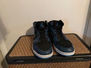 AIR-JORDAN-1-RETRO-BLACK-LASER-BLUE-Polka-Dot-136065-042-Size-13