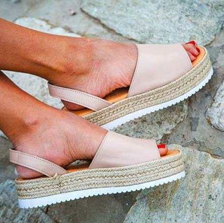 Women/'s Platform Sandals Espadrille Ankle Strap Comfy Summer Peep Toe Shoes Size