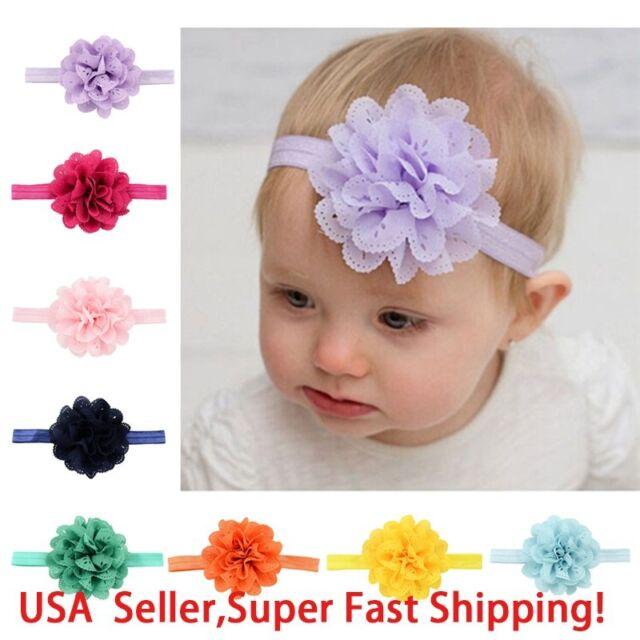 Sale Accessories Fashion Kids Girl Baby Lace Flower Hair Bow Headband Headwear