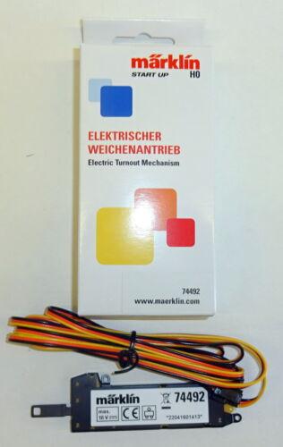 Start up - NEU Märklin H0 74492 Elektrischer Weichenantrieb für C-Gleis OVP