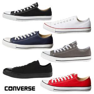 Converse-CHUCK-TAYLOR-tutti-Star-Basso-Top-Unisex-Scarpe-da-ginnastica-di-tela-NUOVA