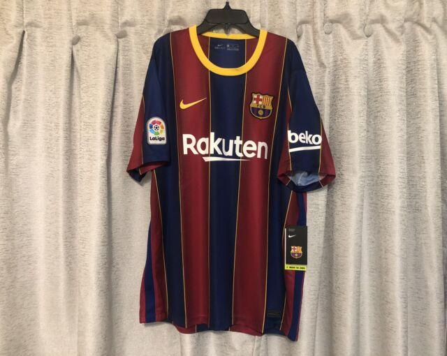 FC Barcelona 20/21 Home Nike Stadium Soccer Jersey Size XL CD4232-456 NWT