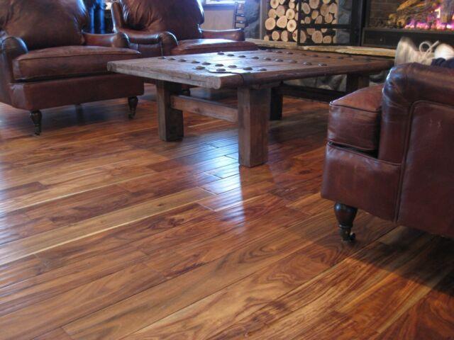 5 Asian Walnut Hand Scraped Hardwood Wood Flooring Floor Sample