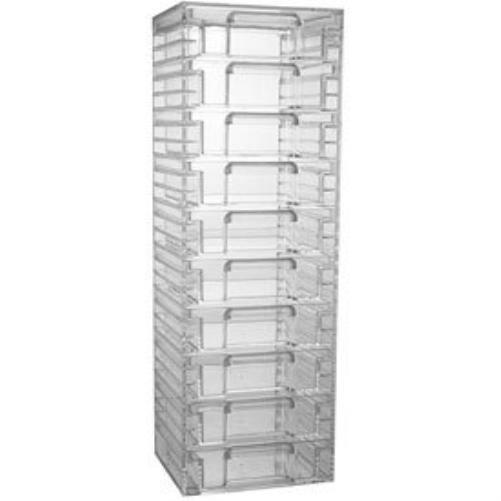 Acrylic Organizer Tower W/ 10 Drawers Organizers Storage Smart Solution New Fast
