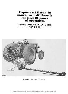 Details about McCormick No. 100 Balanced Sickle Mower Operator manual on