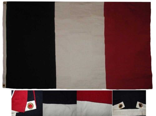 3x5 Embroidered France French Cotton Flag Large 3/'x5/' Banner Grommets