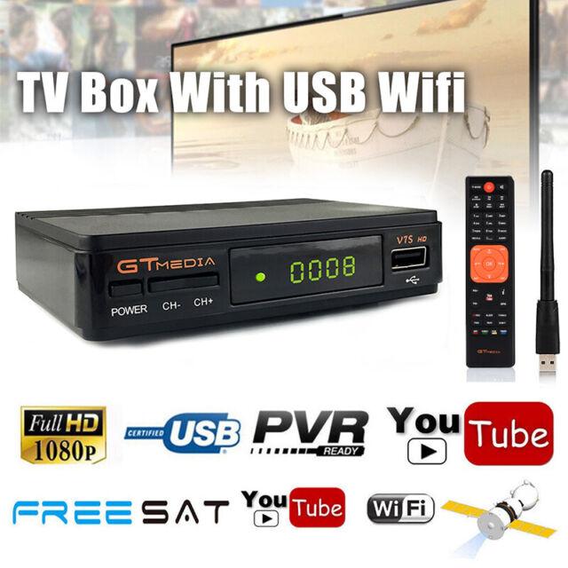Freesat V7 1080P DVB-S2 Satellite TV Receiver Video Broadcast Receptor USB  Wifi