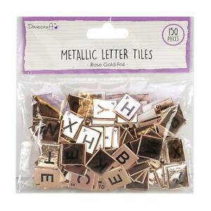 Essentials Chipboard Letter Tiles Iridescent