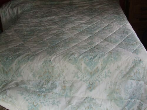 Valance DORMA K//S QUILTED BEDSPREAD P//cases Green//Cream