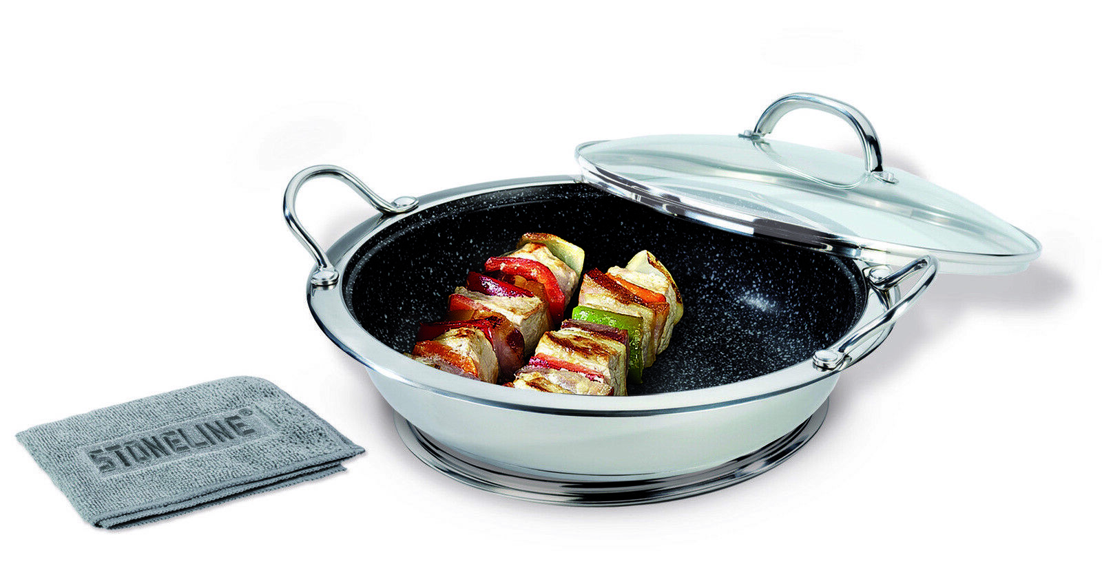Stoneline Professional Serving Wok 30cm with Magnetic Coaster Cookware set AU