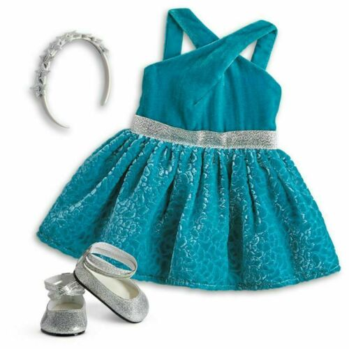 American Girl Doll Gabriela/'s Celebration Dress outfit Shoes Tenney NEW