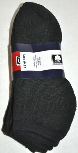 Black Low Cut Ankle Socks 6 Pair Men/'s or Women/'s Sz 9-11 Made In The USA!!