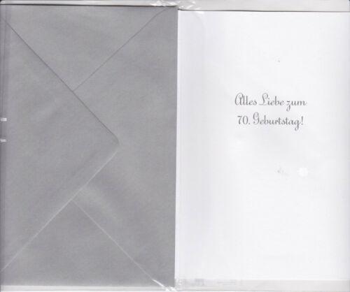 1 Glückwunschkarte Geburtstag 3 D Zahlenkarte 70 ten Grusskarten Handmade #A-013