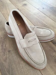 8e63758c7d1 Image is loading NEW-Jcrew-Kenton-Suede-Penny-Loafers-With-White-