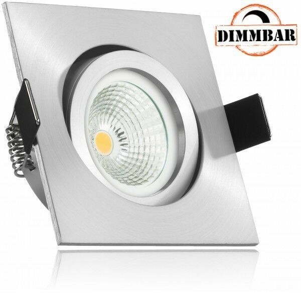 LED Einbaustrahler Set EXTRA FLACH (35mm) in Aluminium matt mit LED Markenleucht | Um Zuerst Unter ähnlichen Produkten Rang  | Export  | Schöne Farbe