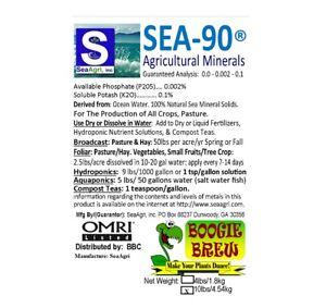 10 Lb (environ 4.54 Kg) Sea-90 Organique Minéraux Et Oligo-élément De Jardin Culture Engrais Foliaire Feed-afficher Le Titre D'origine MatéRiaux De Qualité SupéRieure