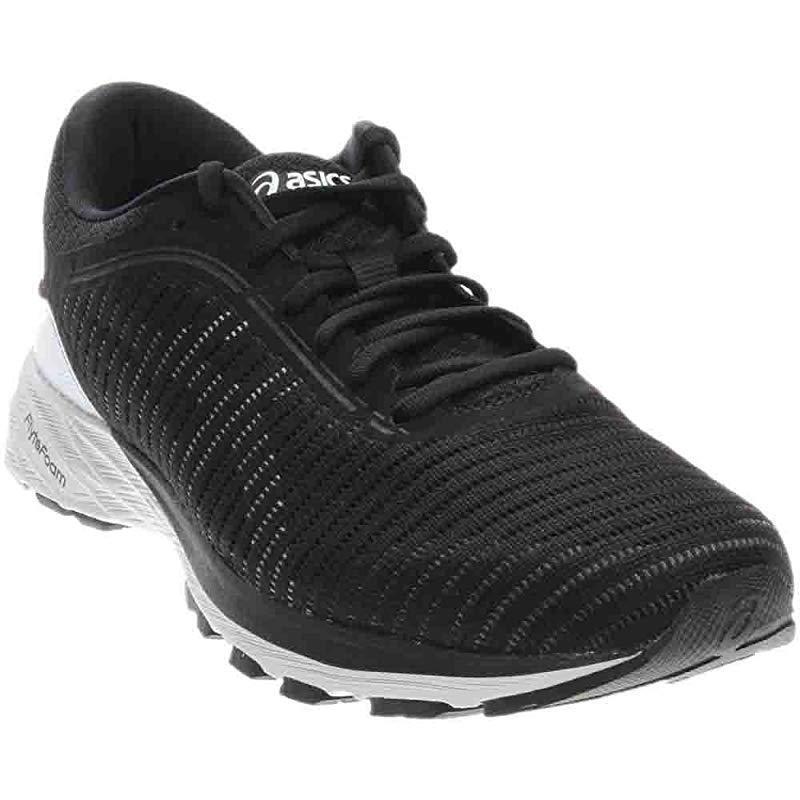 ASICS Men's Performance DynaFlyte 2 Running Shoe, Black/White/Carbon, 12.5 D US