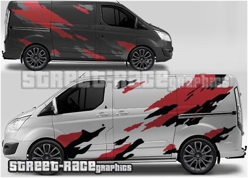 Ford Transit Custom Rally 012 Racing Motorsport Graphique Stickers Autocollants Vinyle