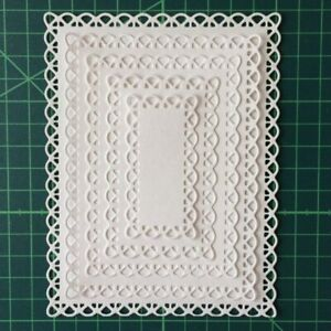 UK Metal Die 8 Rectangle Nest with Stitched edge Scrapbooking /& Cardmaking
