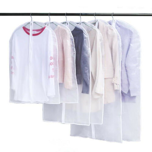 5//10x Garment Suit Jacket Dress Clothes Cover Dust Protector Travel Bag with Zip