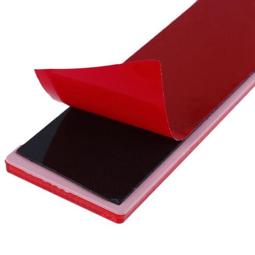 2Pcs Plastic Rectangular Stick-on Car Reflector Reflective Sticker Safety Sig;UK