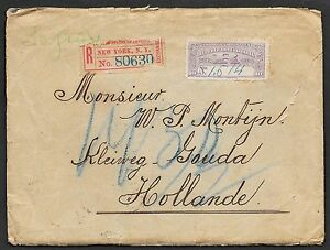Colombia covers 1905 R-cover Cali over NY to Gouda