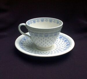 SET-OF-TWO-Copeland-Spode-Blue-Ermine-Centurion-Footed-Cup-And-Saucer-Sets