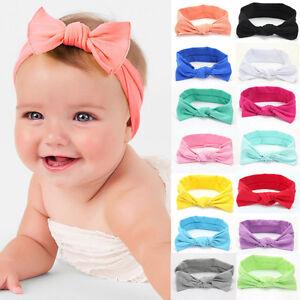 Girl-Kids-Baby-Toddler-Infant-Turban-Knot-Rabbit-Headband-Bow-Hairband-Head-Band