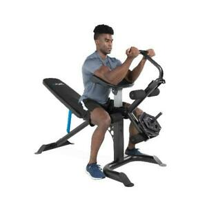 full body workout machine bench press arm preacher curl