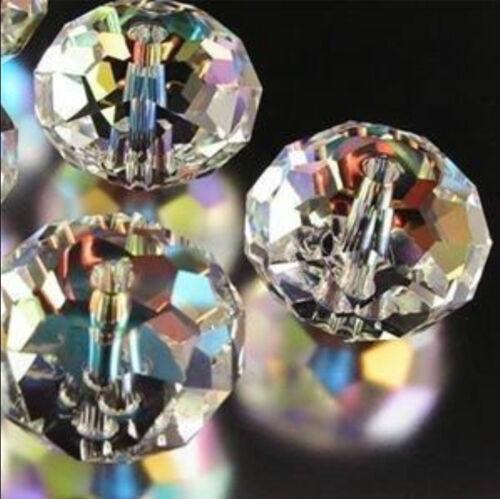 3x4mm Claro 1000 un Aurora Boreal Cristal Facetado Gemas suelta granos 5040