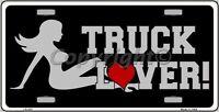 Truck Lover Mud Flap Girl Vanity Metal Novelty License Plate