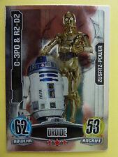 Force Attax Star Wars 1 (2012, blau), C-3PO & R2-D2 (219) Zusatz-Power