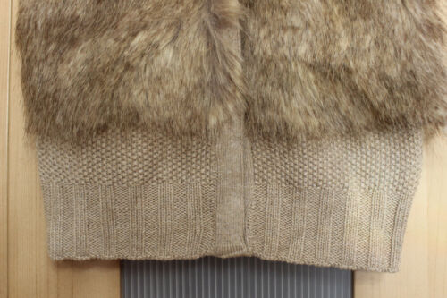 NWT Mayoral Girls/' Faux Fur Knit Vest ~ Size 5 6